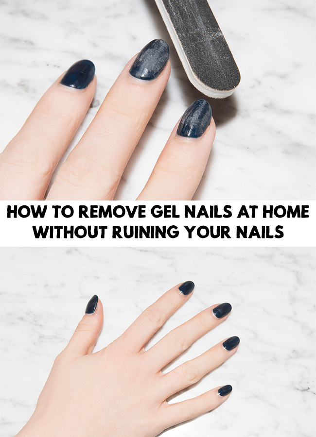 How To Remove Gel Nails At Home Without