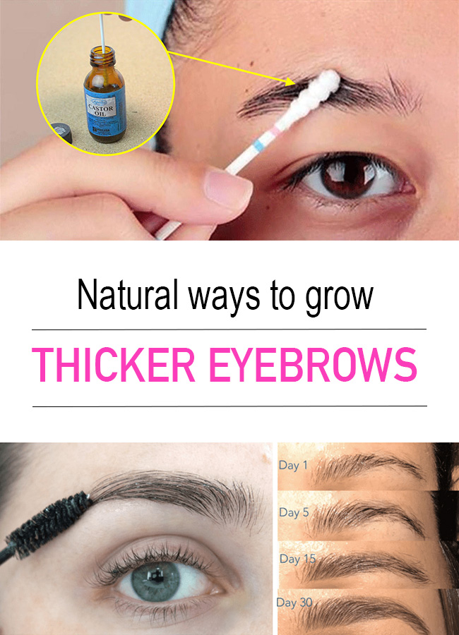 Thicker eyebrows - Natural ways to grow thicker eyebrows