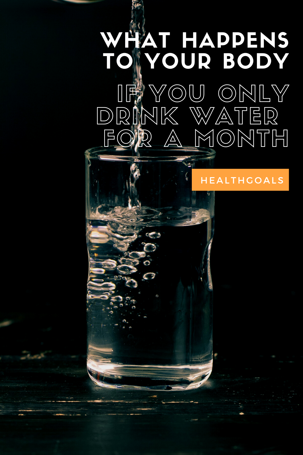 What happens to your body if you only drink water for a month