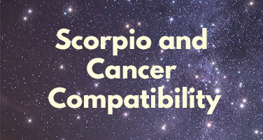 Sight first and cancer scorpio at love The 4
